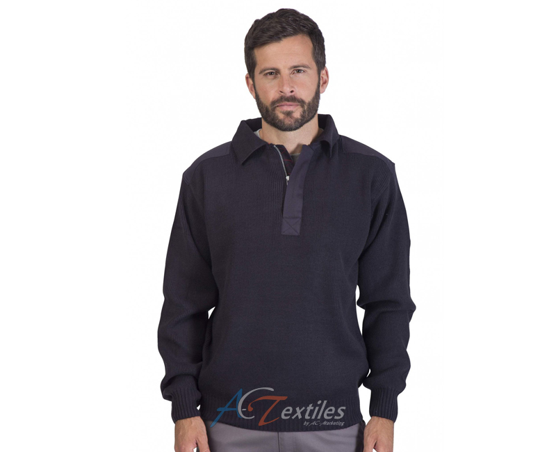 magasin d'usine b961b be030 Pull homme manches longues col polo